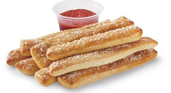Little Caesars bread sticks and marinara sauce; Novato pizza delivery
