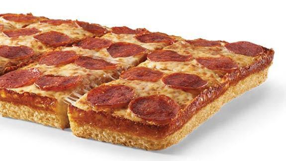 pan pizza; deep dish pepperoni pizza