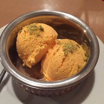 Dessert is a must - Mango ice cream