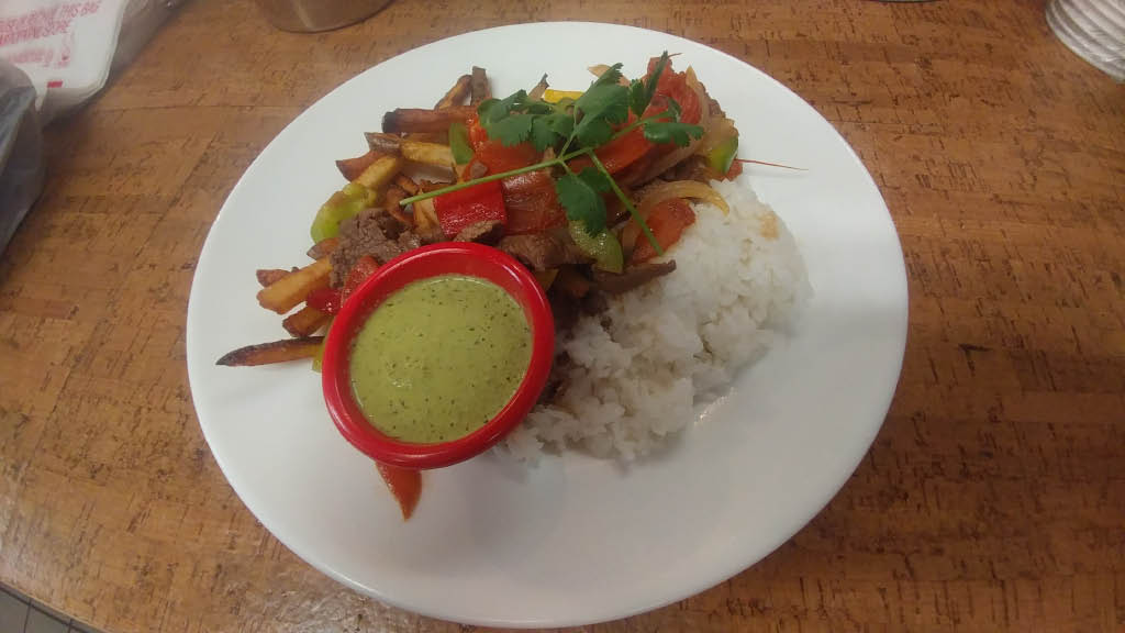 Lomo Saltado in Cache Valley is Saboras very own Peruvian dish.