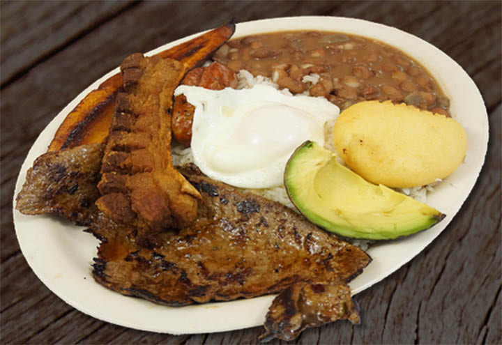 Many entrees to choose from at Los Criollos Colombian Restaurant in Wharton NJ