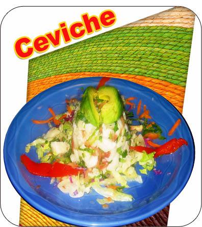 ceviche at los rancheros mexican restaurant in sandy springs, ga