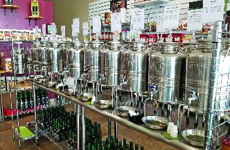 Olive oil dispensers at Love That Olive - Maple Grove, MN
