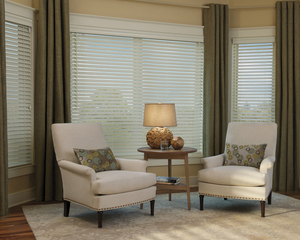Everwood TruGrain blinds are our most comprehensive collection of alternative wood blinds in realistic grain patterns