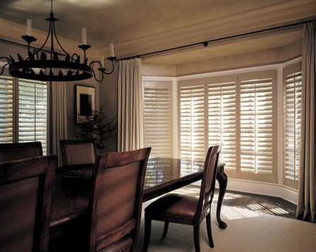 Heritance Hardwood Shutters are plantation-style shutters crafted from real wood and use dovetail construction for maximum strength and durability