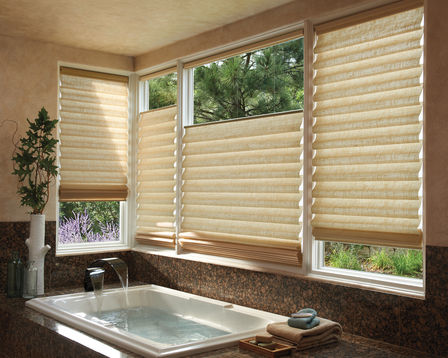Vignette Modern Roman Shades feature stylish, consistent folds and no exposed cords, keeping windows uncluttered