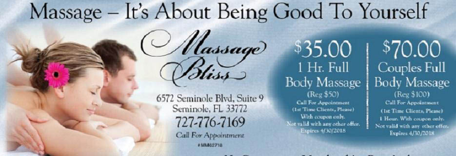 MASSAGE BLISS BANNER, SEMINOLE, FL