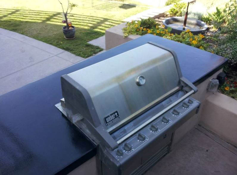 Custom Concrete grill installation near Dehesa, CA