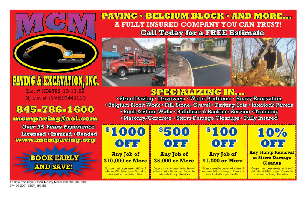 MCM Paving in West Haverstraw, New York ad