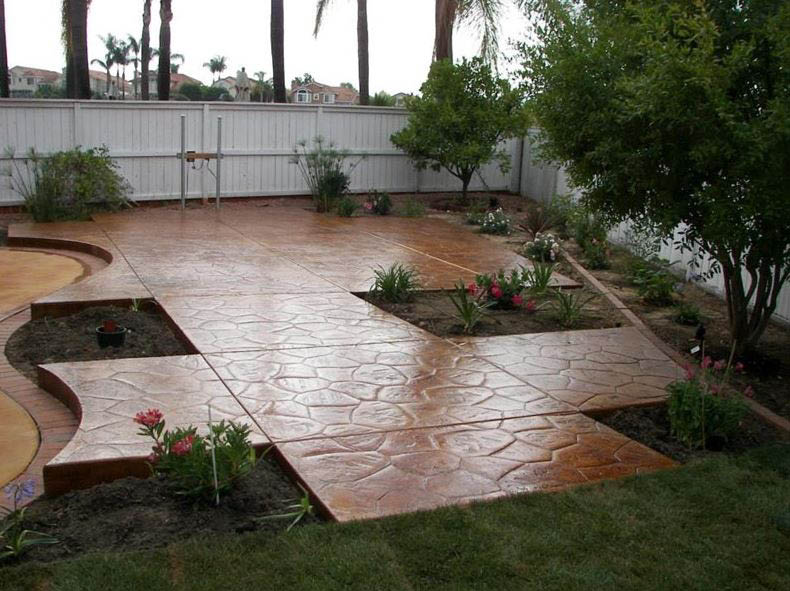Discount custom concrete patio floor near El Cajon