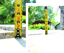 Before and after concrete leveling
