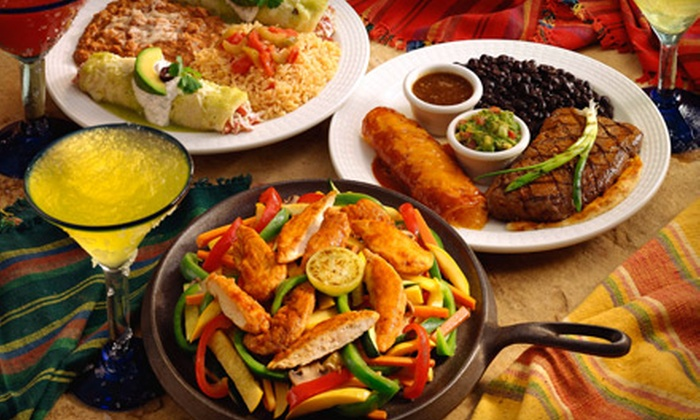 food plate at Mexican Inn