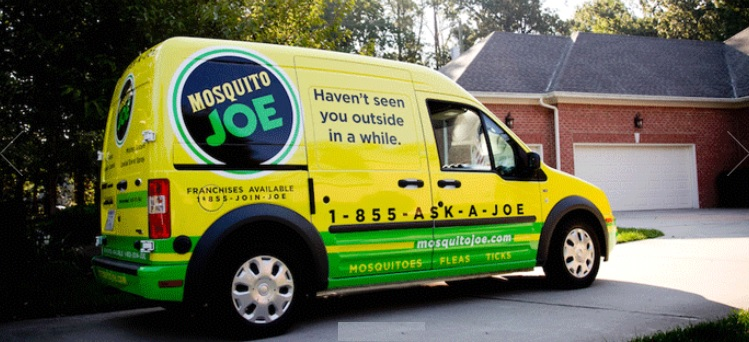 See our Mosquito Joe truck pull up and see your mosquito population go down
