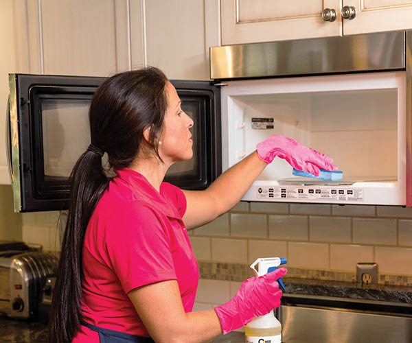 Microwave cleaning by Molly Maid