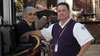 MV Transportation drivers lend mobility and assistance to seniors; Chicago, IL