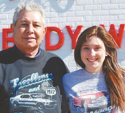 AJ Inge has always had a passion for cars. For 31 years he's devoted his life to painting and repairing cars, his wife, Teresa, and their 21-year-old daughter, Katie, who's anxious to follow in AJ's footsteps as a champion race car driver.