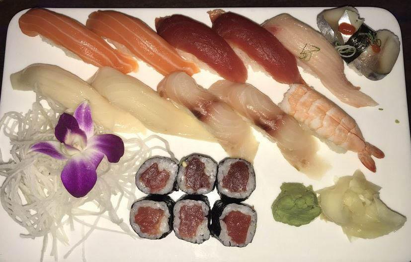 sashimi plate at Machi Sushi in Selden, NY