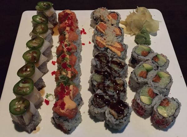 assorted sushi rolls ready to be eaten in Selden, NY