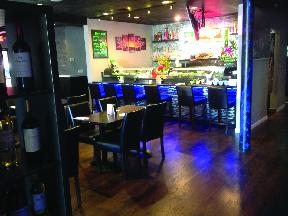 Machi Sushi in Selden, New York interior restaurant view