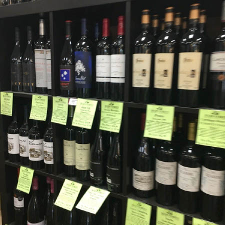 Huge selection of red wines at Main Street Wine Cellars in Madison NJ