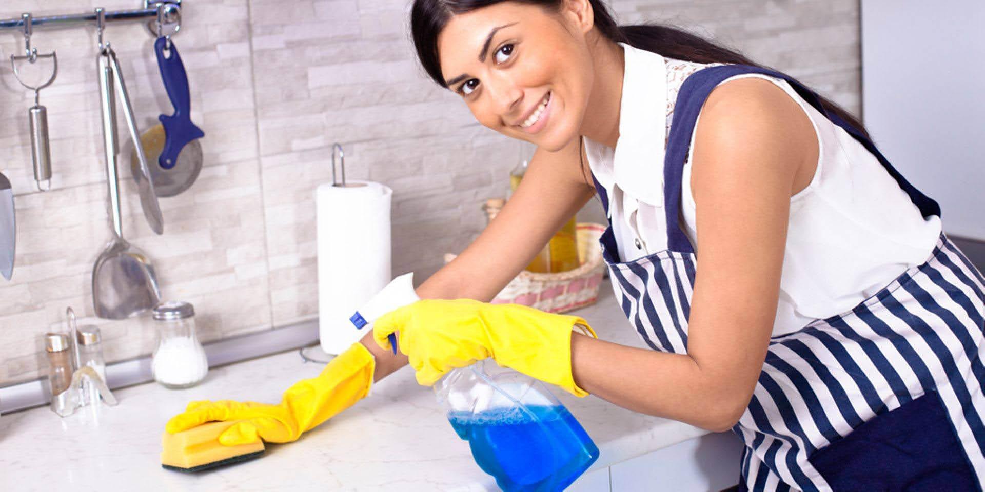 We clean kitchen countertops and bathroom vanities