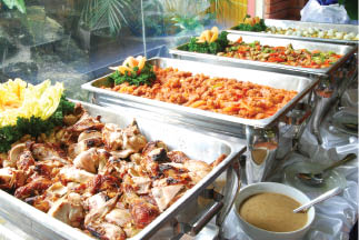 Catering trays from Mama Luigi's