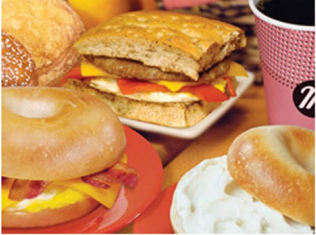 Manhattan bagel,coffee,bagels,dine in,take out,wraps,discounts,deals,