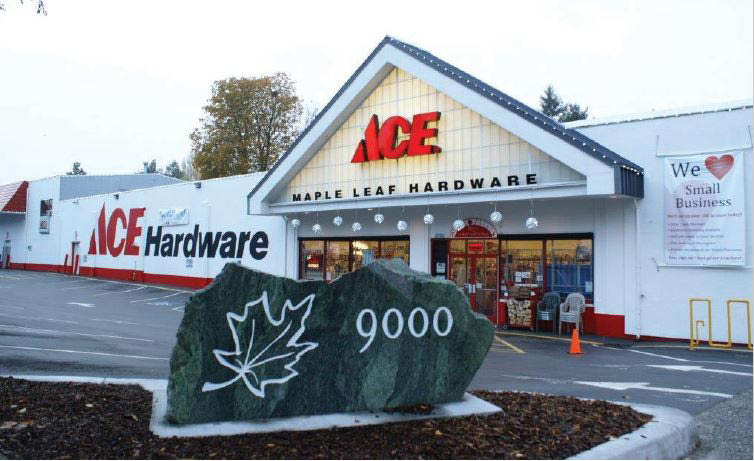 Maple Leaf Ace Hardware store front in Seattle WA - outside Maple Leaf Ace Hardware - Seattle Ace hardware stores near me