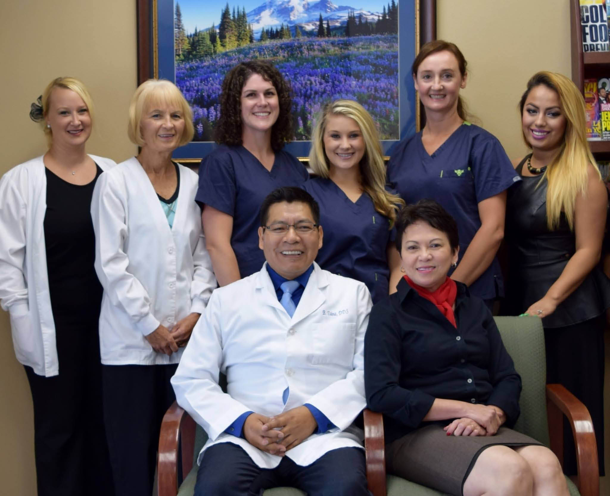 Maple Valley Dentistry Professionals friendly staff with Dr. Bernardo E. Taina, DDS