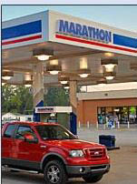 photo of car getting gas at Bloomfield Twp Marathon  in Bloomfield Hills, MI
