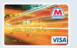image of Marathon Visa credit card from Bloomfield Twp Marathon in Bloomfield Hills, MI