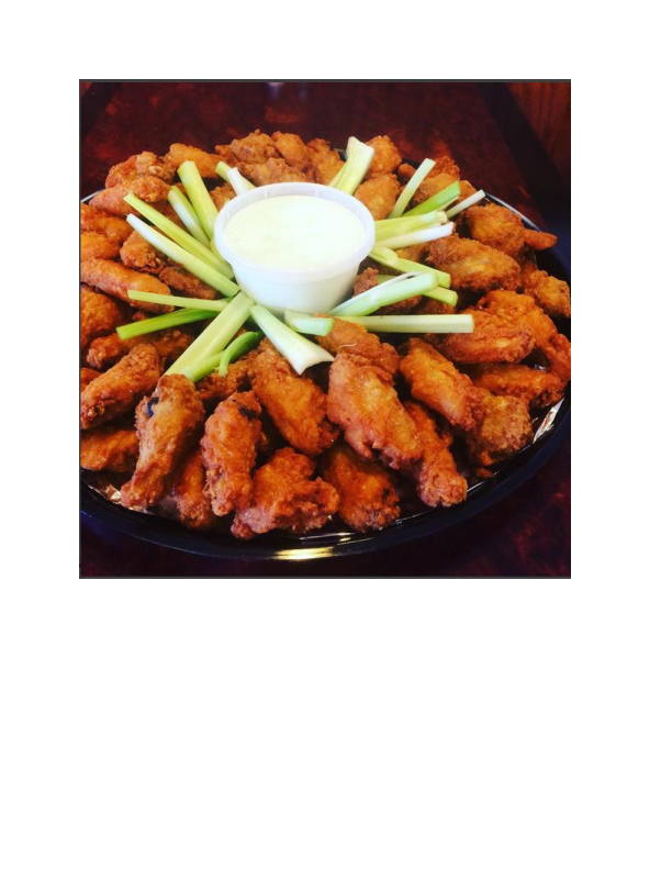 Wings catering platter from Maria's Pizzeria & Restaurant in Wharton NJ