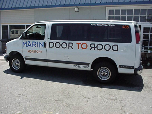 airport shuttle in Marin, Sonoma, and Napa Counties
