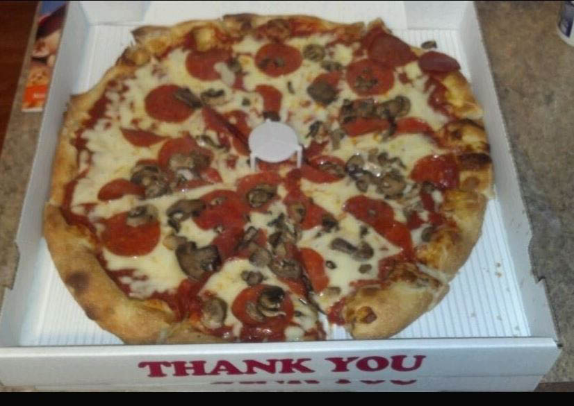 photo of meat pizza from Marina's Restaurant in Westland, MI