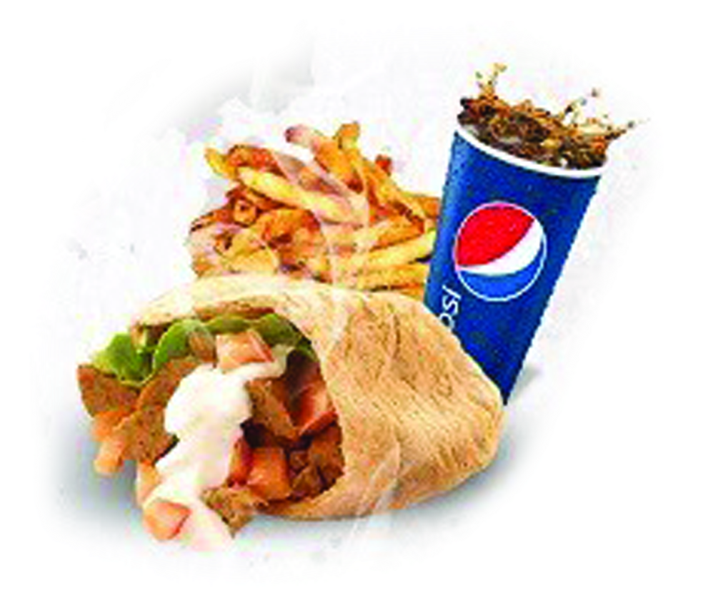 Maro's Combo - Gyro Fries & Pepsi