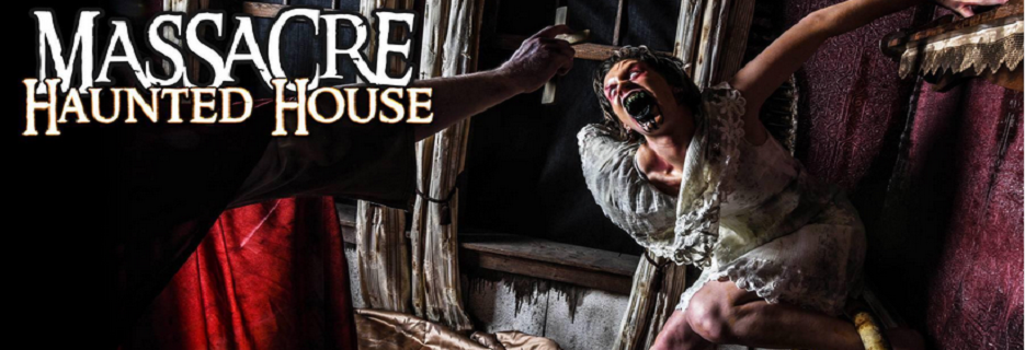 Massacre Haunted House in Montgomery, IL banner