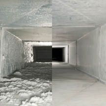 Before and after air duct cleaning near Palatine, IL