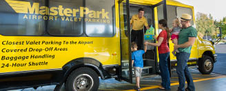 MasterPark shuttle to SeaTac Airport - valet parking - our shuttle gets you to the airport fast and easily