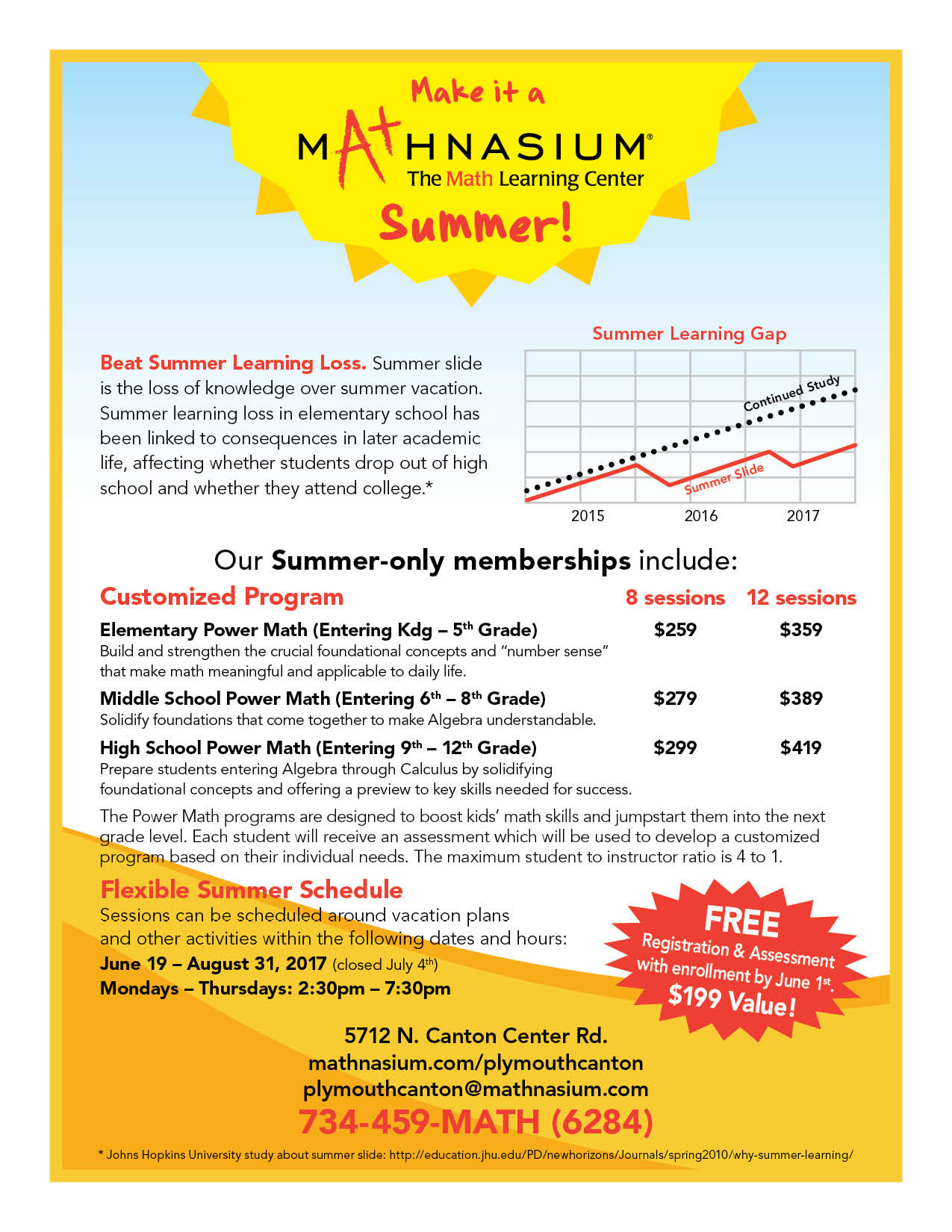 Math summer camp in Centreville VA and Manassas, VA