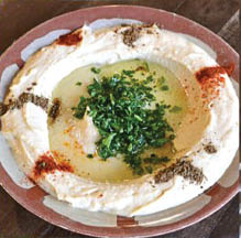 Fresh made daily Hummus appetizer