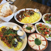 Assortment of Mediterranean Foods at Maura's Mediterranean Cuisine in Westmont, IL