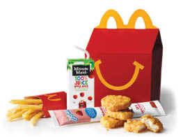 Happy Meal available at McDonalds in New Jersey