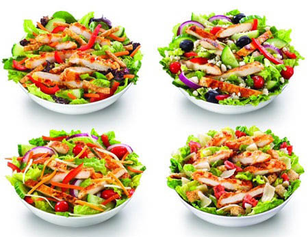 Many salads to choose from at McDonald's in Butler NJ, Mahwah NJ, Wyckoff NJ