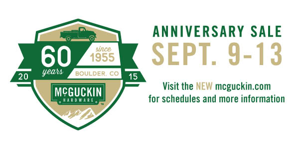 60 year anniversary McGuckin Hardware