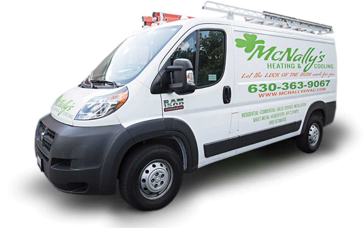 McNally's Heating & Cooling Vehicles at your service