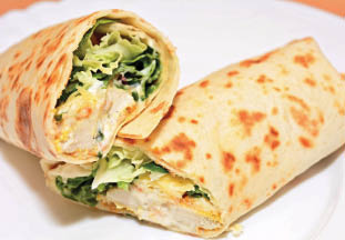 Overstuffed wraps as a sandwich alternative