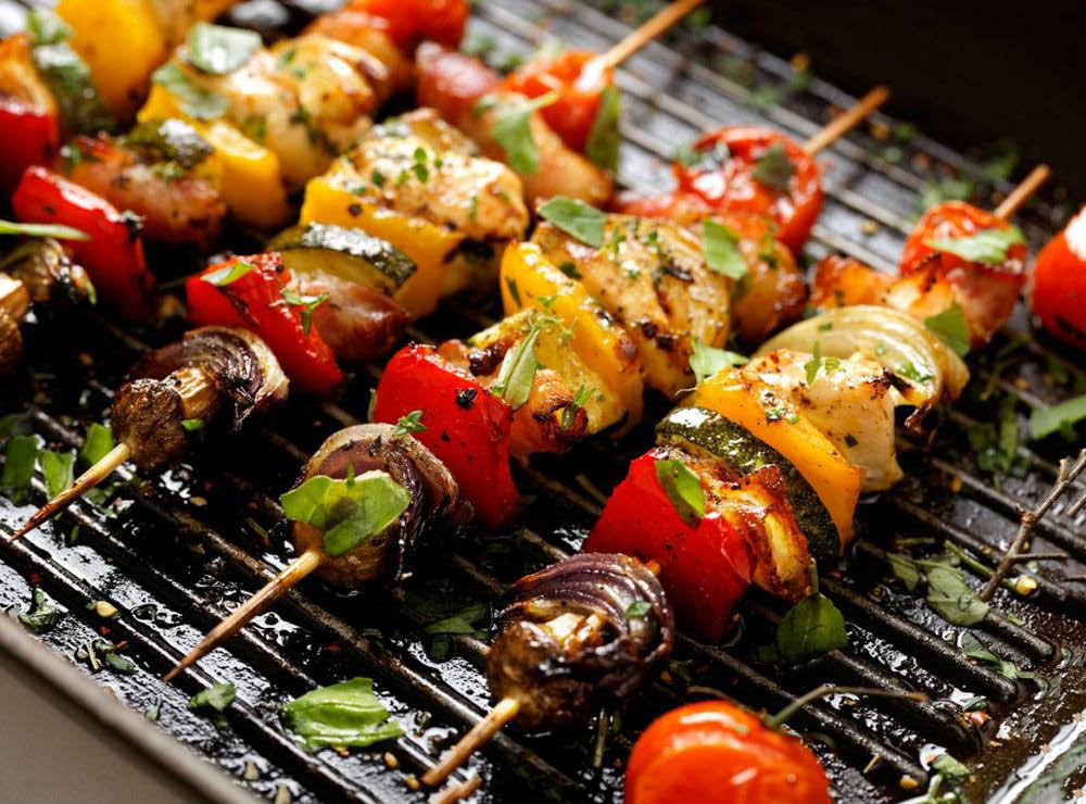 Kebabs from Mediterranean Pizza & Grill in Morristown NJ