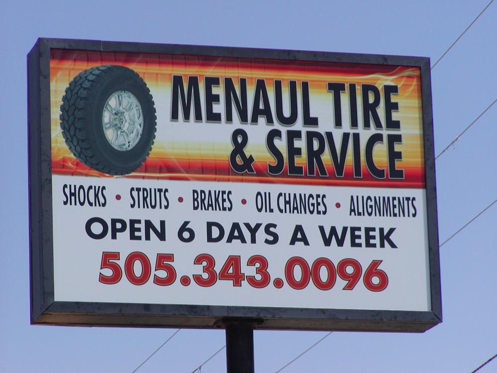 Look for the Menaul Tire Sign at 307 Menaul Blvd. NE in Albuquerque