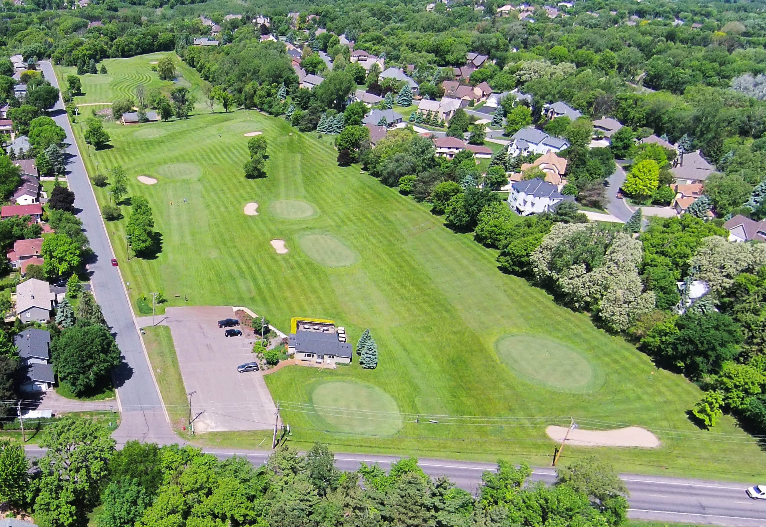 Aerial View of Par 3 Golf Course in Mendota Heights, MN