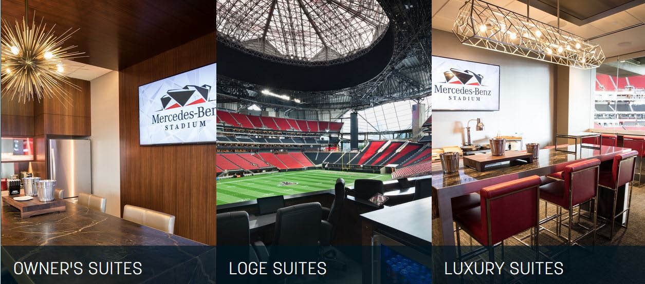 Private suites for watching the game or show